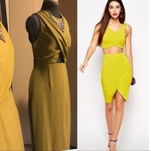 ASOS chartreuse dress